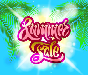 advertisement poster for summer sale shopping
