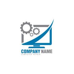 computer repair logo icon
