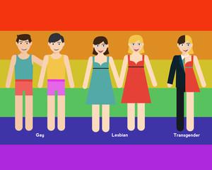 LGBT person illustration