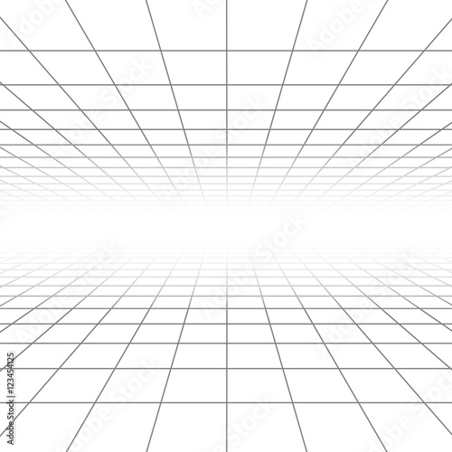 Quot Ceiling And Floor Perspective Grid Vector Lines