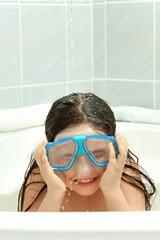 Children in bathtube