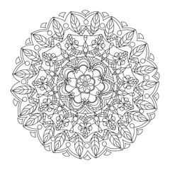 Mandala coloring book vector illustration
