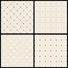 Set od Vector seamless diamond pattern