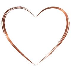 Herz Kupfer Rotgold Handzeichnung