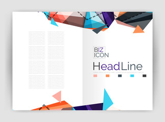 Business triangle design modern business annual report flyer