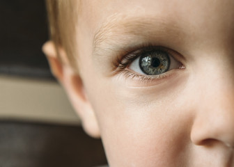 Close up of boy's eye