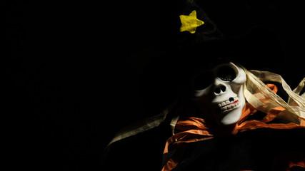 Scary skull monster in the dark