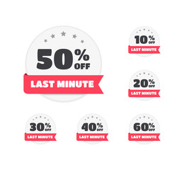 Last Minute % Off Labels
