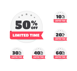 Limited Time % Off Labels