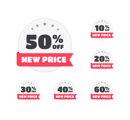 New Price % Off Labels