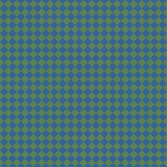 Blue rhombus geometric seamless pattern on green background