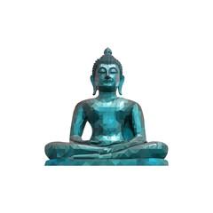 Buddha statue polygon