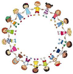 Kinderkreis clipart  Bilder und Videos suchen: menschenkette