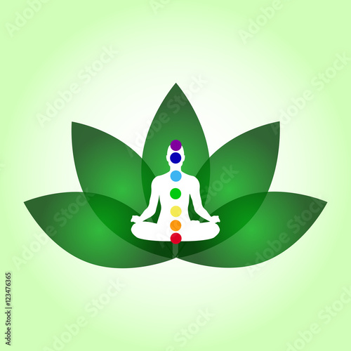Lotus flower yoga center emblem meditation pose relaxing stock lotus flower yoga center emblem meditation pose relaxing mightylinksfo
