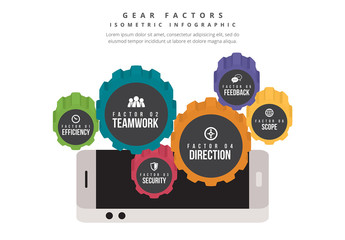 Gear Elements Infographic
