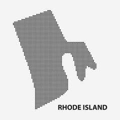 Dotted map of the State Rhode Island. Vector illustration.
