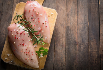 Raw chicken breast