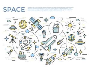 Space Horizontal Concept
