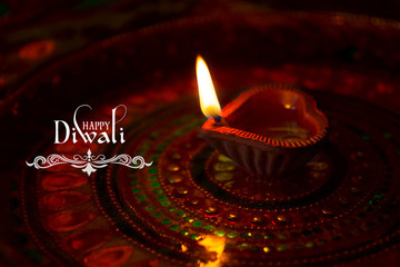 diwali with diya