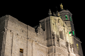 Cathedral of Valladolid in the night, Spain