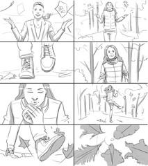 Autumn storyboard