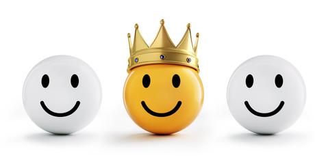 Gelber Smiley mit Krone 5