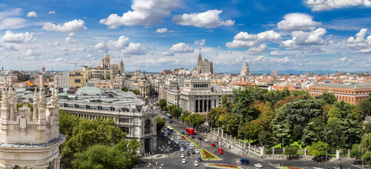 Fotomurales - Plaza de Cibeles in Madrid