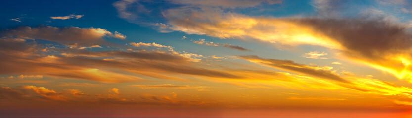 Tuinposter Ochtendgloren Sunset panorama