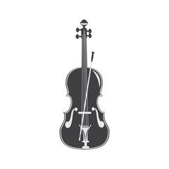Black and white violin.