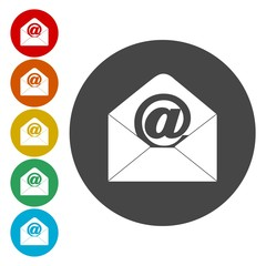 Email, internet icon, vector icons set