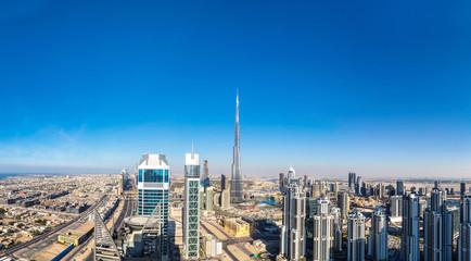 Aerial view of Dubai