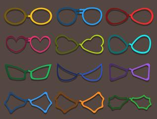 Colorful Fancy Specs Frames Set