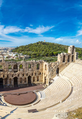 Fototapete - Ancient theater in Greece, Athnes