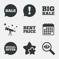 Sale icons. Special offer speech bubbles symbols.