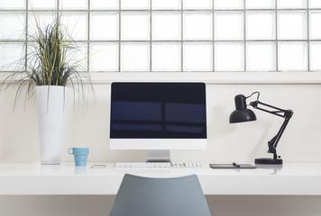 Desktop computer mockup template
