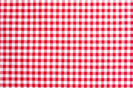 Tablecloth red white pattern
