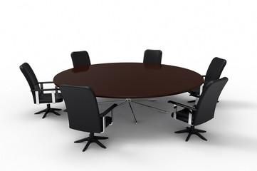 Conference table, 3D rendering