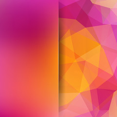 Abstract polygonal vector background. Colorful geometric vector illustration. Creative design template. Abstract vector background for use in design. Pink, yellow colors