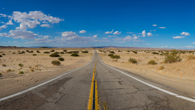 Deserted Mojave California Road
