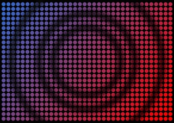 Multi colored dots texture with concentric circles