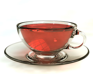 3D model rendering of realistic cup of tea