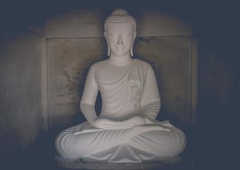 White buddha statue tone Film style