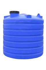 Plastic water and liquids barrel storage industrial container isolated on white background