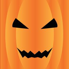 Jack o' lantern Pumpkin Halloween Illustration in square