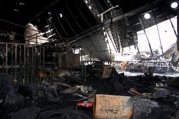After factory fire