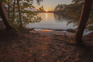 A sunset view of Lake Norman in North Carolina.