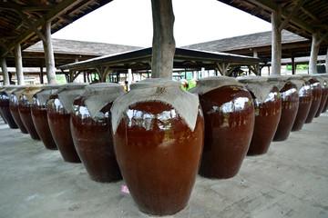 Alcholic Liquors Storing Jars