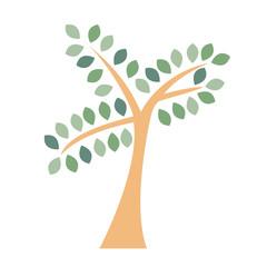 Tree logo icon. Flat silhouette isolated on white background.