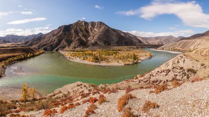 two mountain rivers