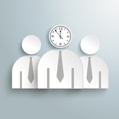 3 Businessmen Clock